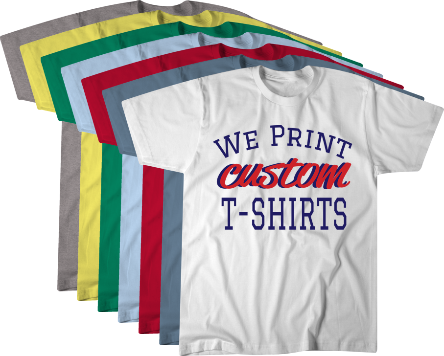 We Print Custom T-shirts
